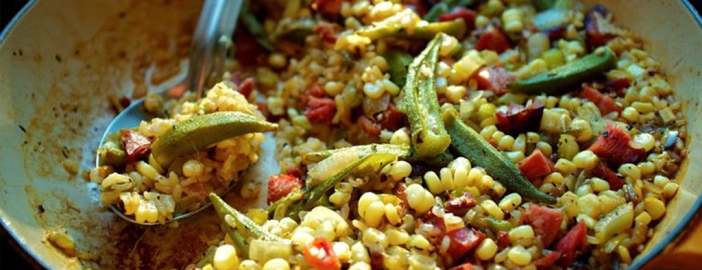Source: http://food52.com/recipes/23847-okra-and-sweet-corn-purloo