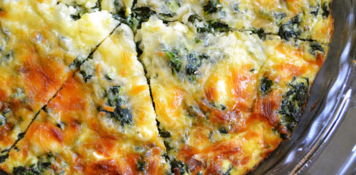 Source: http://www.budgetbytes.com/2011/11/spinach-mushroom-feta-crustless-quiche/