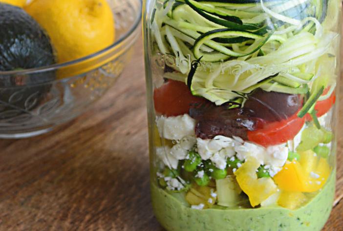 Source: http://www.sugarfreemom.com/recipes/mason-jar-zucchini-pasta-salad-with-avocado-spinach-dressing/